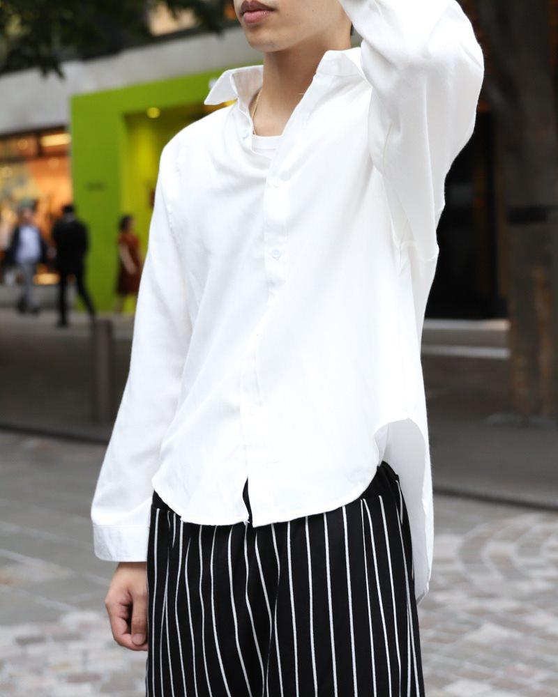 ドロップショルダーショート丈ワイドスリーブシャツの画像2